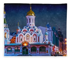 Kazan Cathedral. Red Square. Moscow Russia Fleece Blanket