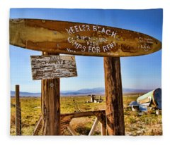 Keeler Beach Camping By Diana Sainz Fleece Blanket