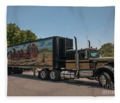 Keep Those Wheels A Truckin Fleece Blanket