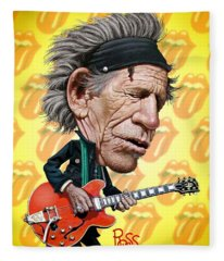 Keith Richards Fleece Blanket