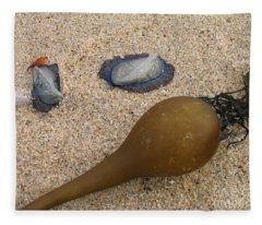 Kelp Float And Velella Fleece Blanket