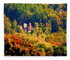 Fleece Blanket featuring the photograph Kennesaw Hideout by Rafael Salazar