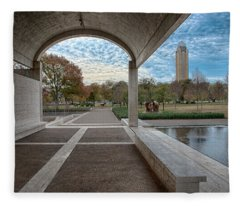 Kimbell Art Museum Fort Worth Fleece Blanket