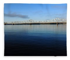 Kimberling City Bridge Fleece Blanket