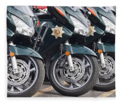 King County Police Motorcycle Fleece Blanket