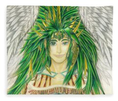King Crai'riain Portrait Fleece Blanket