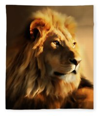 King Lion Of Africa Fleece Blanket