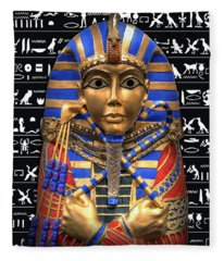 King Of Egypt Fleece Blanket
