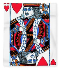 King Of Hearts 20140301 Fleece Blanket