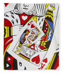 King Of Hearts Collage Fleece Blanket