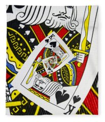 King Of Spades Collage Fleece Blanket