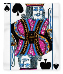 King Of Spades - V3 Fleece Blanket