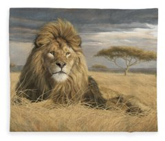 King Of The Pride Fleece Blanket