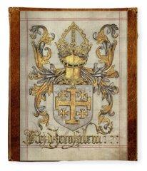 Kingdom Of Jerusalem Medieval Coat Of Arms  Fleece Blanket