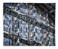 Kings Cross St Pancras Windows Fleece Blanket