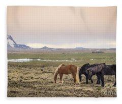 Kings Of The Nordic Twilight Fleece Blanket