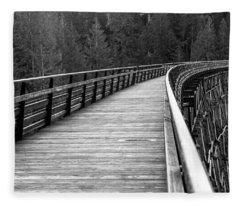Kinsol Trestle Boardwalk  Fleece Blanket