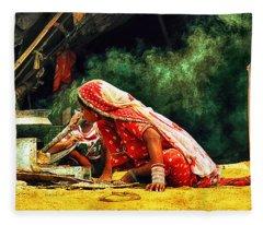 Kitchens Of India Fleece Blanket