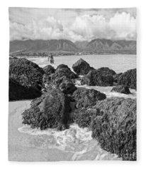 Kite Beach Maui Hawaii Fleece Blanket