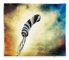 Kite In The Wind Fleece Blanket