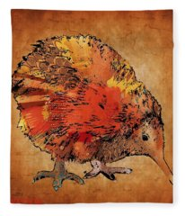 Kiwi Bird Fleece Blanket