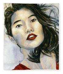 Kiyomi Fleece Blanket
