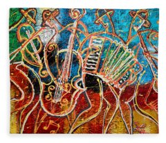 Klezmer Music Band Fleece Blanket