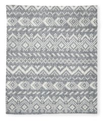 Knit Pattern Abstract Fleece Blanket