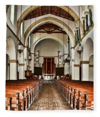 Knowles Memorial Chapel Rollins College 2 By Diana Sainz Fleece Blanket
