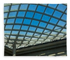 Kogod Courtyard Ceiling #3 Fleece Blanket