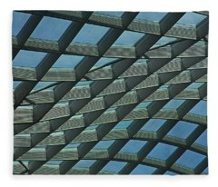 Kogod Courtyard Ceiling #6 Fleece Blanket