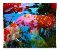 Koi Fish Fleece Blanket