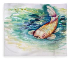 Koi I Fleece Blanket