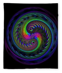 Koi Yin Yang Fleece Blanket