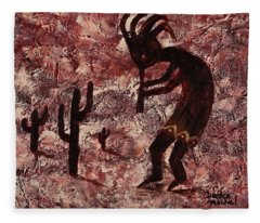 Kokopelli Fleece Blanket