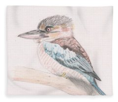 Kookaburra Cuteness Fleece Blanket