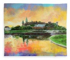 Krakow - Wawel Castle Fleece Blanket