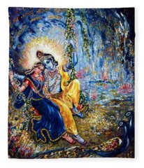 Krishna Leela Fleece Blanket