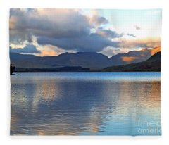 On The Banks Of Kylemore Lake Fleece Blanket