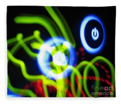 L E D Painting 0250 Fleece Blanket