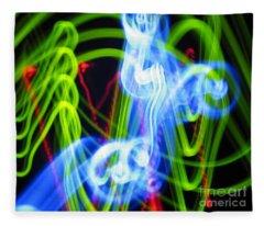L E D Painting 0252 Fleece Blanket