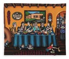 La Familia Or The Family Fleece Blanket
