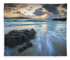 La Fragata Beach Galicia Spain Fleece Blanket