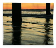 La Jolla Shores Sunset Fleece Blanket