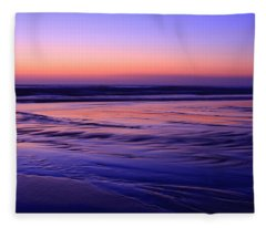 La Jolla Shores Twilight Fleece Blanket