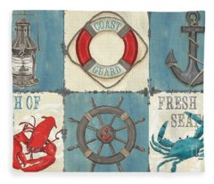 La Mer Collage Fleece Blanket