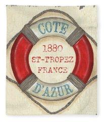 La Mer Cote D'azur Fleece Blanket