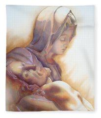 La Pieta By Michelangelo Fleece Blanket