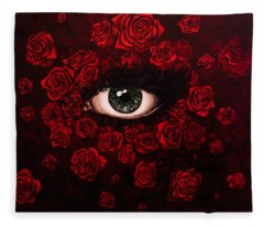 La Vie En Rose Fleece Blanket