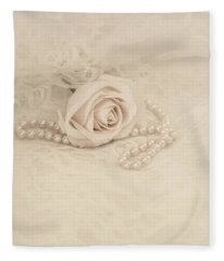Lace And Promises Fleece Blanket